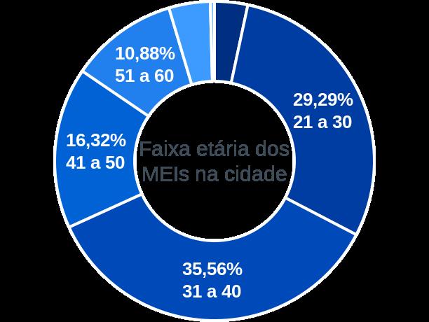 Faixa etária de MEIs na cidade de Porto Acre