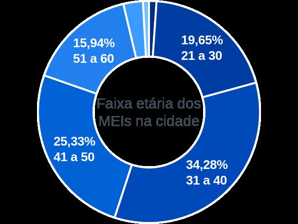 Faixa etária de MEIs na cidade de Barra de Santo Antônio