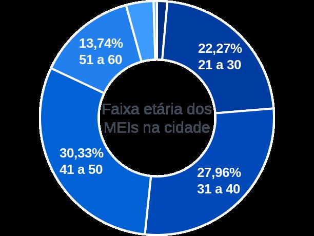 Faixa etária de MEIs na cidade de Coqueiro Seco