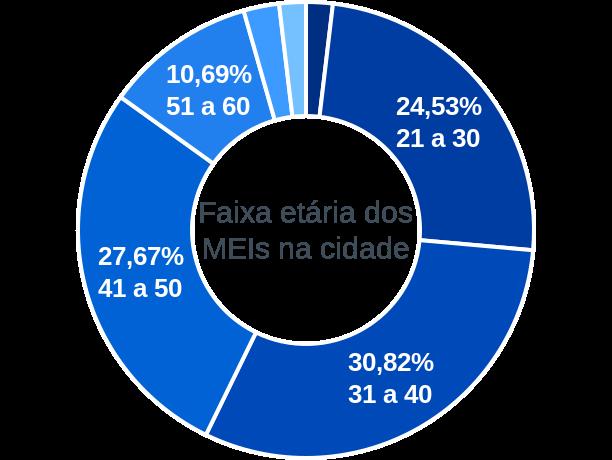 Faixa etária de MEIs na cidade de Estrela de Alagoas