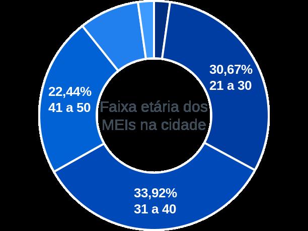 Faixa etária de MEIs na cidade de Girau do Ponciano