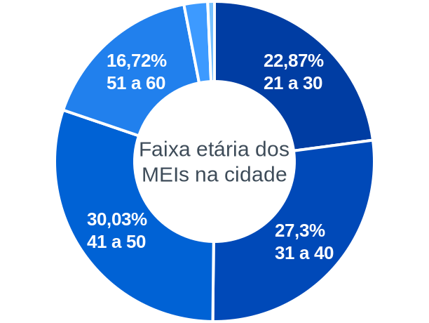 Faixa etária de MEIs na cidade de Joaquim Gomes