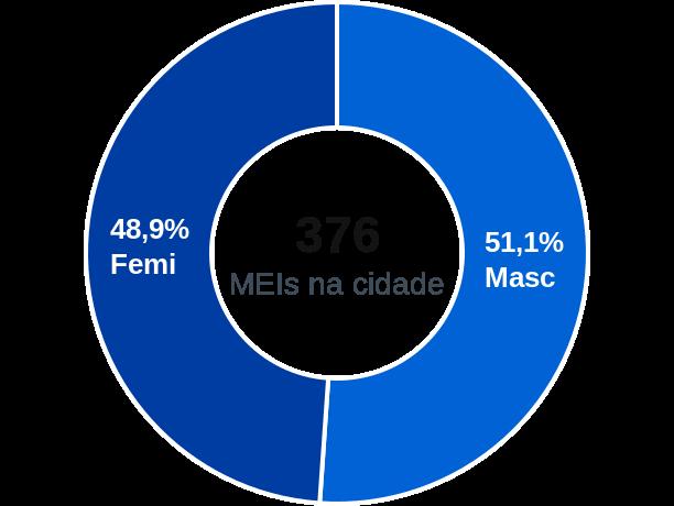 Gênero de MEIs na cidade de Passo de Camaragibe