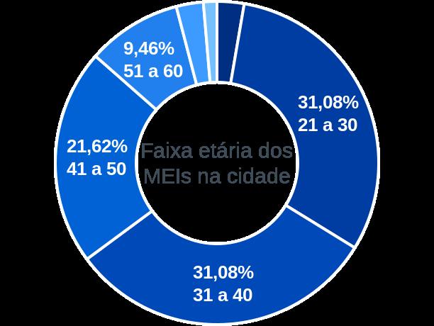 Faixa etária de MEIs na cidade de São Brás