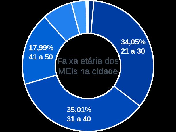 Faixa etária de MEIs na cidade de São José da Tapera