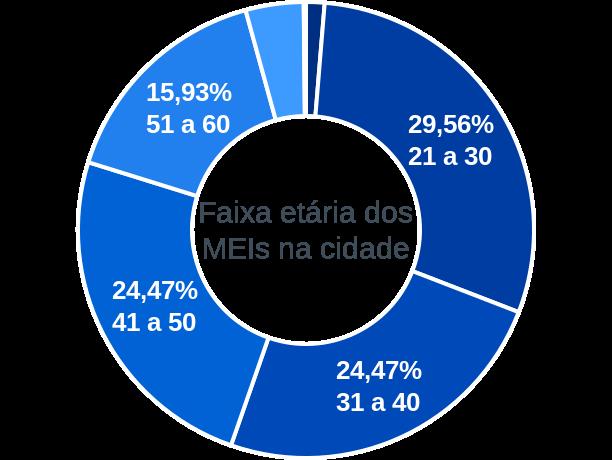 Faixa etária de MEIs na cidade de São Luís do Quitunde