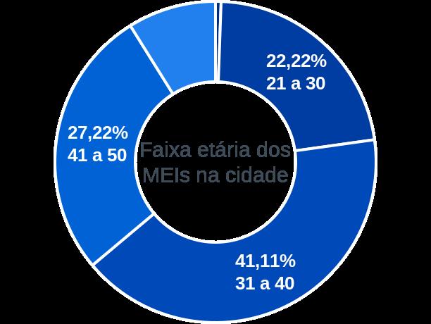 Faixa etária de MEIs na cidade de Fonte Boa
