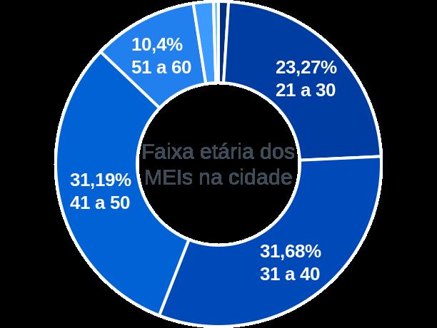 Faixa etária de MEIs na cidade de Santa Isabel do Rio Negro