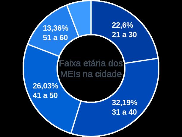 Faixa etária de MEIs na cidade de Urucará