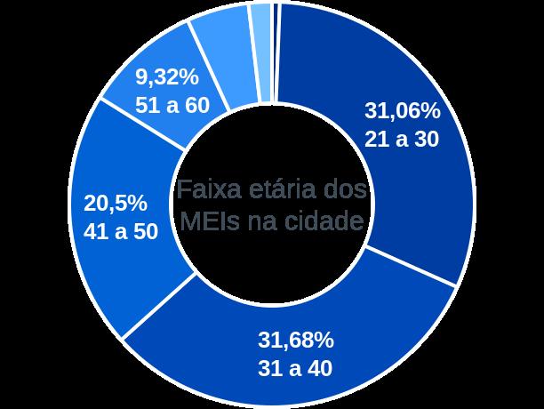 Faixa etária de MEIs na cidade de Ferreira Gomes