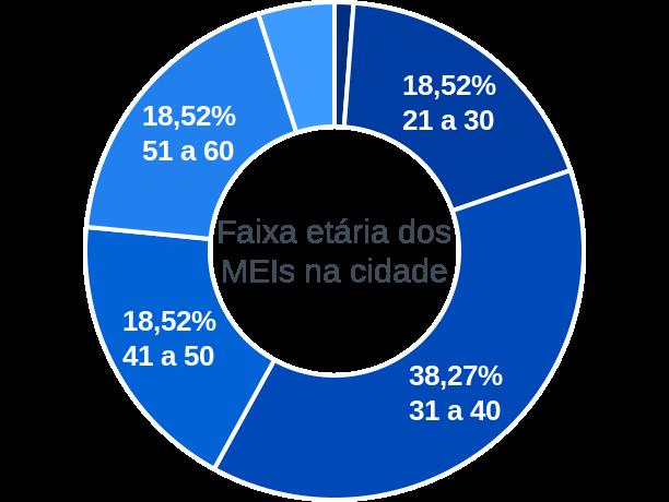 Faixa etária de MEIs na cidade de Antônio Cardoso