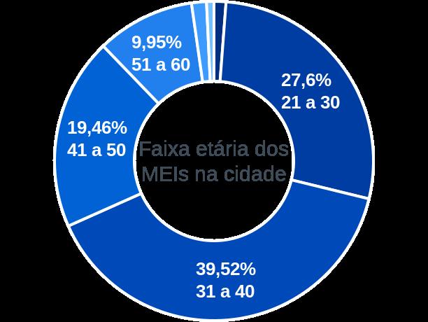 Faixa etária de MEIs na cidade de Barra da Estiva