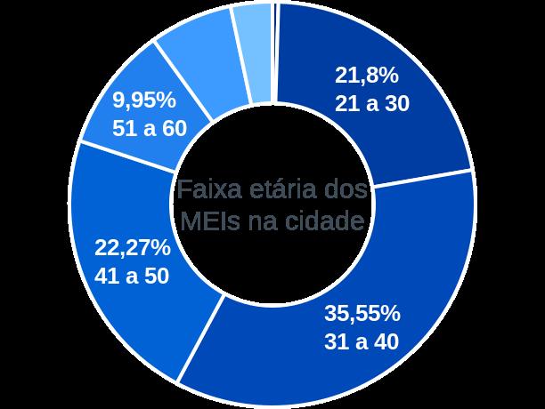 Faixa etária de MEIs na cidade de Barra do Mendes
