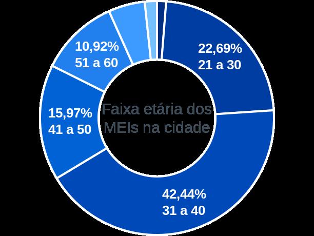 Faixa etária de MEIs na cidade de Caldeirão Grande