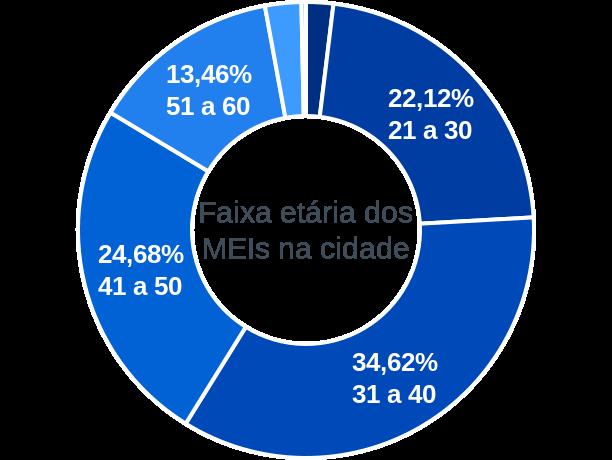 Faixa etária de MEIs na cidade de Capela do Alto Alegre