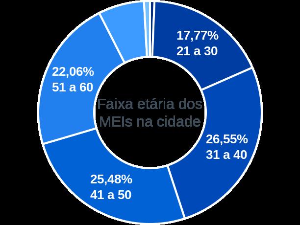 Faixa etária de MEIs na cidade de Conceição do Almeida