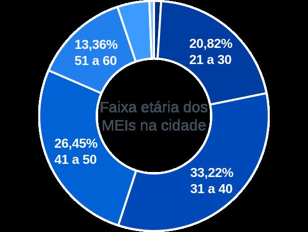 Faixa etária de MEIs na cidade de Conceição do Coité