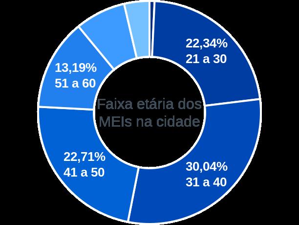 Faixa etária de MEIs na cidade de Dário Meira