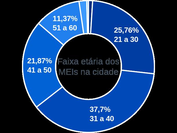 Faixa etária de MEIs na cidade de Formosa do Rio Preto