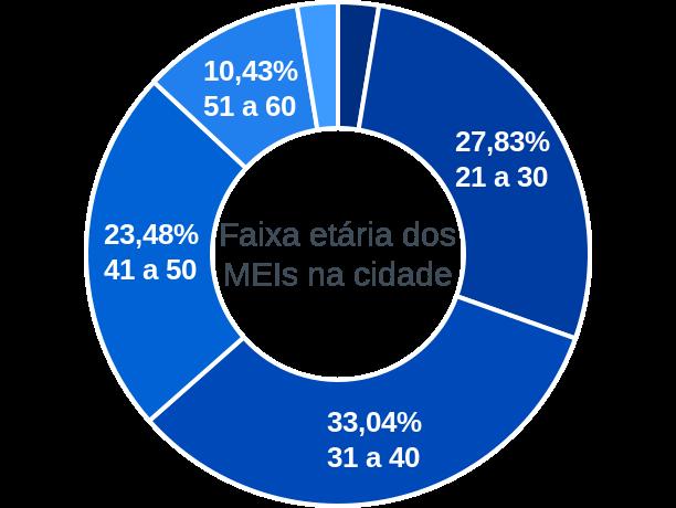 Faixa etária de MEIs na cidade de Itaguaçu da Bahia