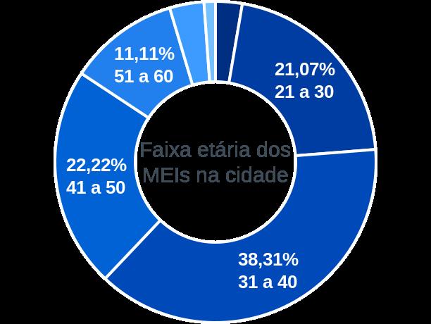 Faixa etária de MEIs na cidade de João Dourado