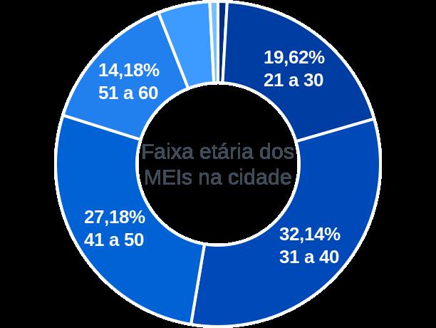 Faixa etária de MEIs na cidade de Lauro de Freitas