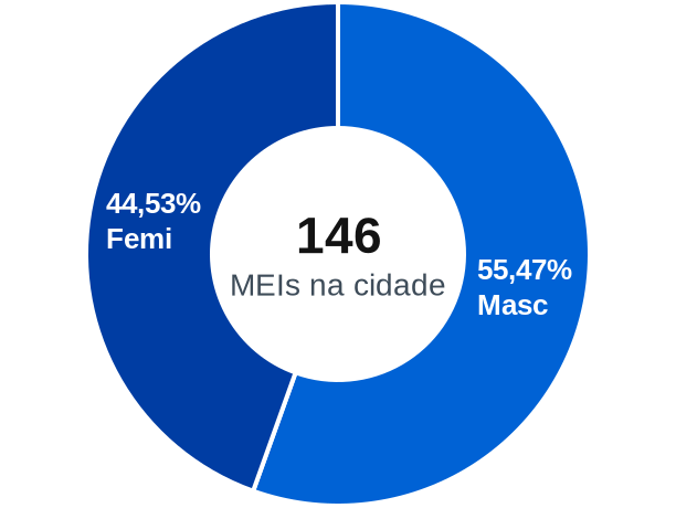 Gênero de MEIs na cidade de Nordestina