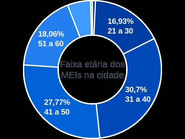 Faixa etária de MEIs na cidade de Oliveira dos Brejinhos