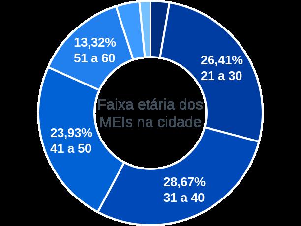 Faixa etária de MEIs na cidade de Pé de Serra
