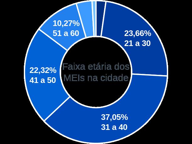 Faixa etária de MEIs na cidade de Presidente Jânio Quadros