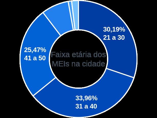Faixa etária de MEIs na cidade de Ribeirão do Largo