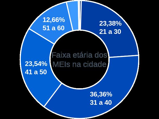 Faixa etária de MEIs na cidade de São Desidério