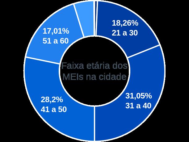 Faixa etária de MEIs na cidade de São Felipe