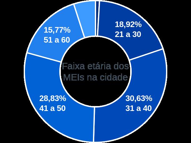 Faixa etária de MEIs na cidade de São Félix