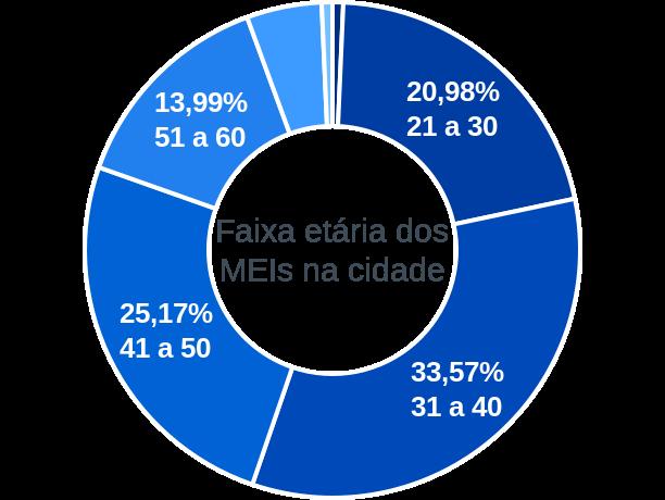 Faixa etária de MEIs na cidade de São José da Vitória