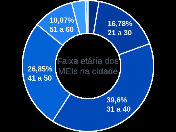 Faixa etária de MEIs na cidade de Sebastião Laranjeiras