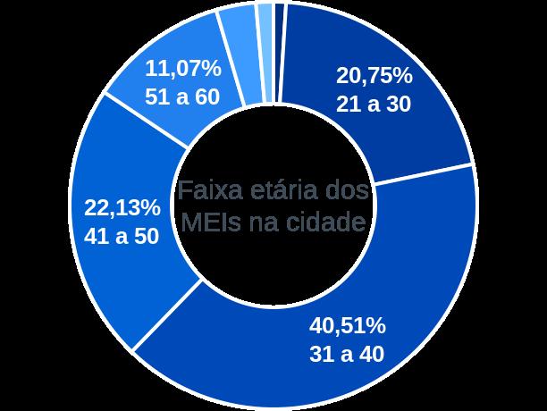 Faixa etária de MEIs na cidade de Serra do Ramalho