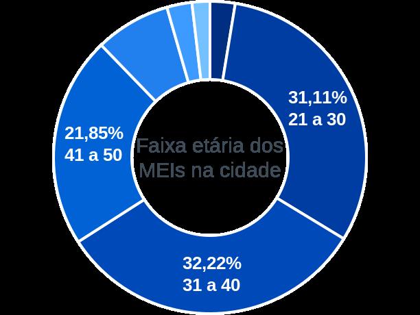 Faixa etária de MEIs na cidade de Souto Soares