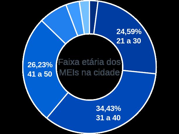 Faixa etária de MEIs na cidade de Várzea da Roça