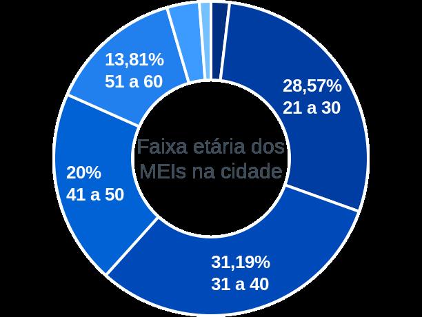 Faixa etária de MEIs na cidade de Jaguaretama