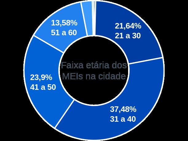 Faixa etária de MEIs na cidade de Conceição do Castelo