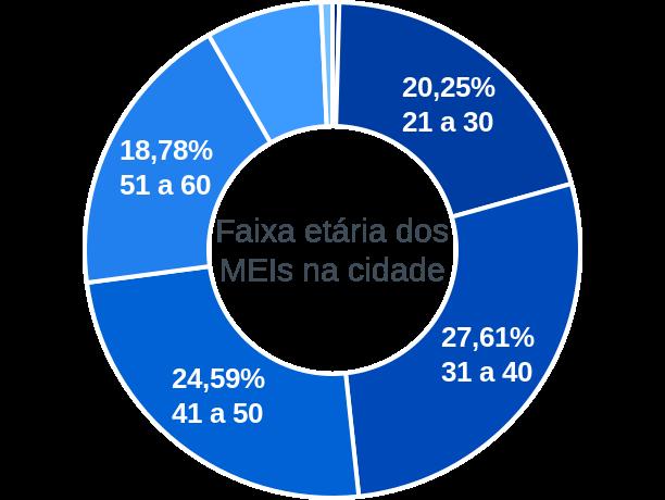 Faixa etária de MEIs na cidade de Pedro Canário