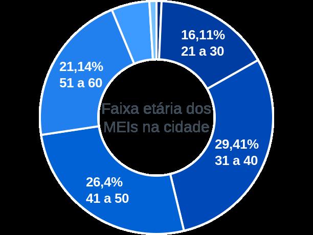 Faixa etária de MEIs na cidade de São Gabriel da Palha