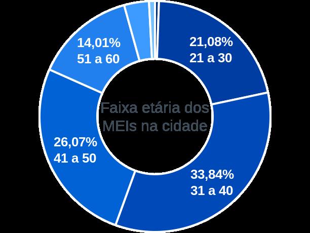 Faixa etária de MEIs na cidade de Abadia de Goiás