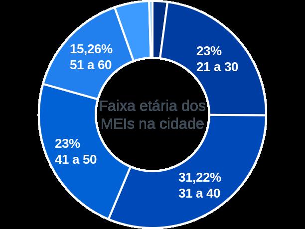 Faixa etária de MEIs na cidade de Alto Horizonte