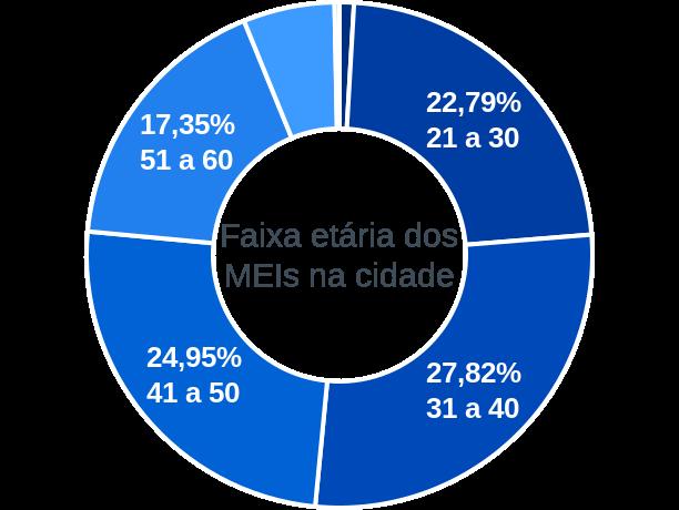 Faixa etária de MEIs na cidade de Aragarças
