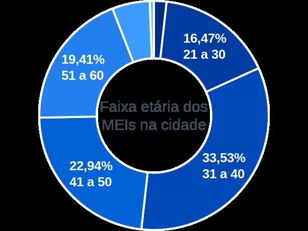 Faixa etária de MEIs na cidade de Campestre de Goiás