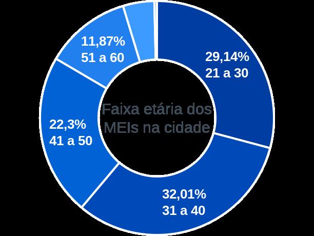 Faixa etária de MEIs na cidade de Campo Limpo de Goiás