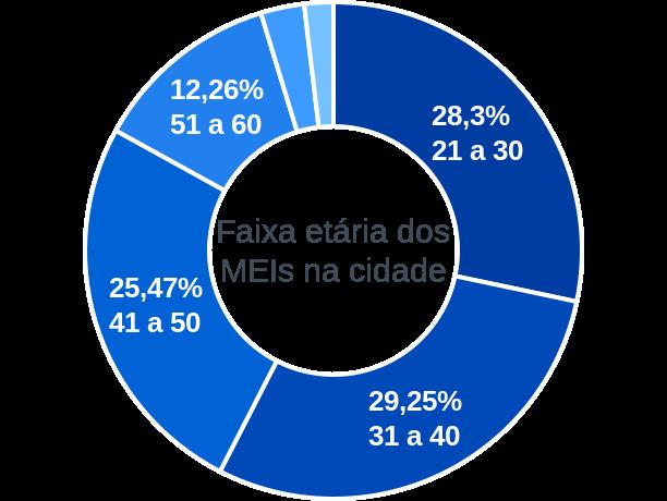 Faixa etária de MEIs na cidade de Gameleira de Goiás