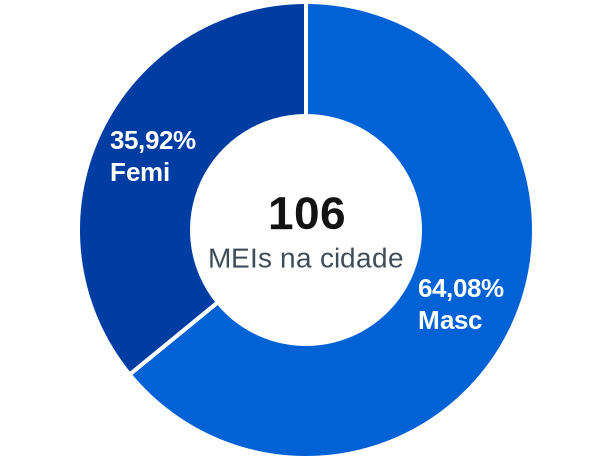 Gênero de MEIs na cidade de Heitoraí